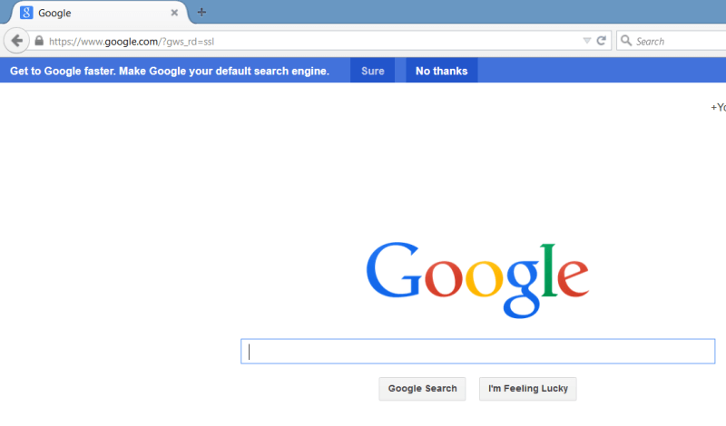 Google Suggesting Firefox Users Change Their Search Engine & Home Page