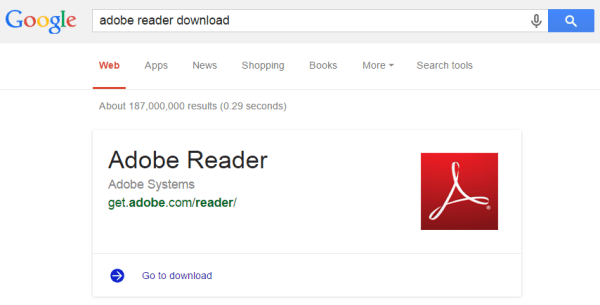 adobe-reader-answer-box-google