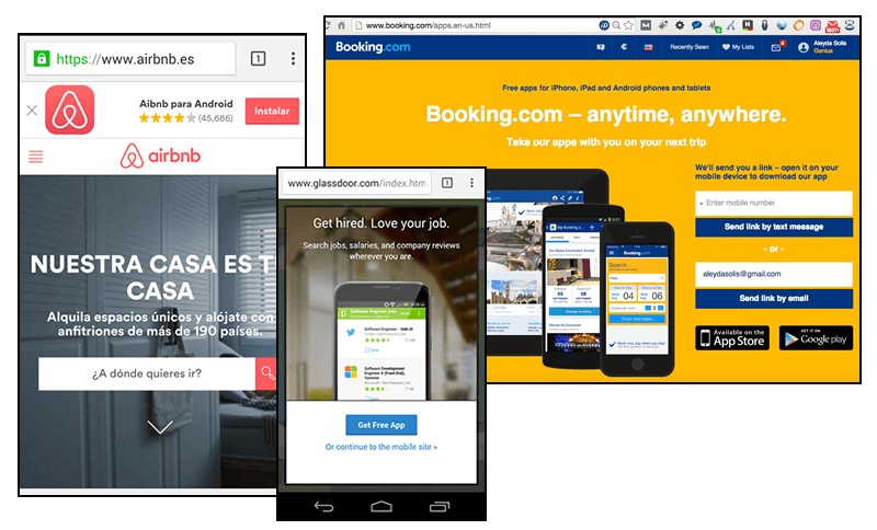 Mobile App Web Referral