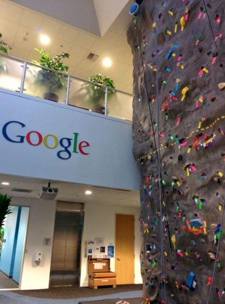 Google Rock Climbing Wall
