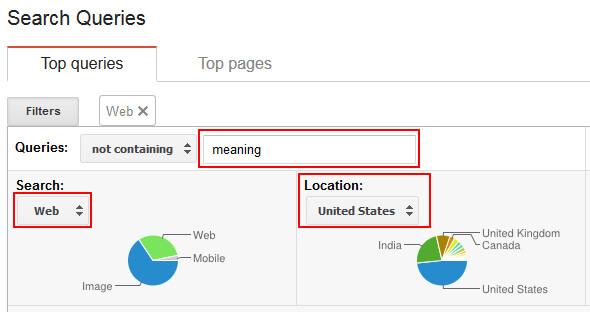 google webmaster tools filters