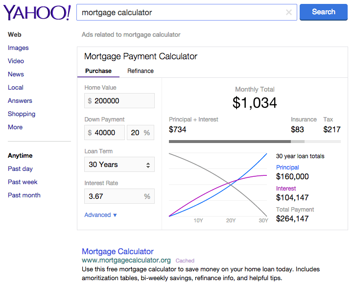 yahoo-mortgage-calculator