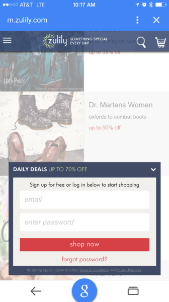 mobile-zulily-emailsignup