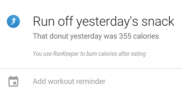 runkeeper google now