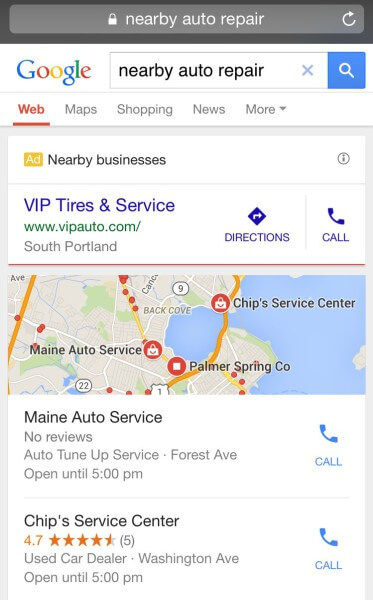 google local extension ads