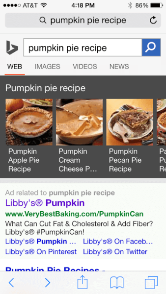 pumpkin pie recipe search bing