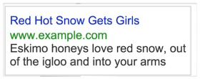 Marty's PPC ad on selling snow