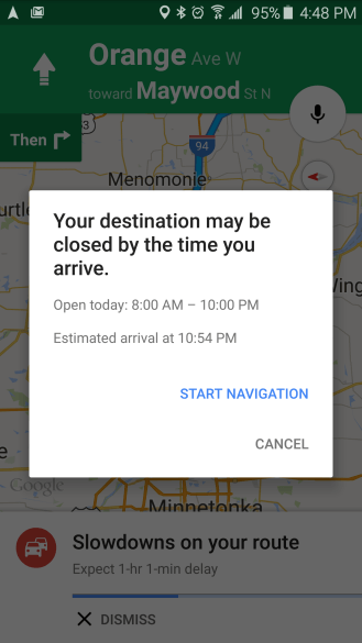 google-maps-closed-destination
