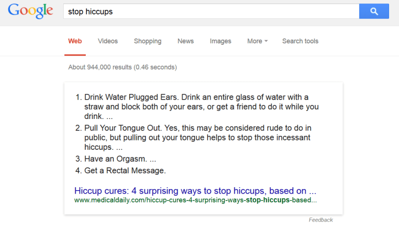 how to stop hiccups search