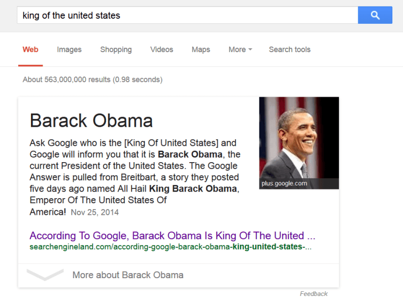 king of united states 2015