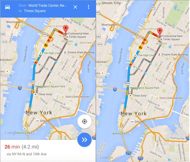 Google Maps Hidden UI