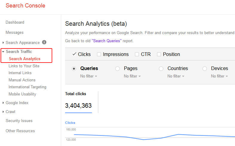 Search Analytics Reporting in GSC
