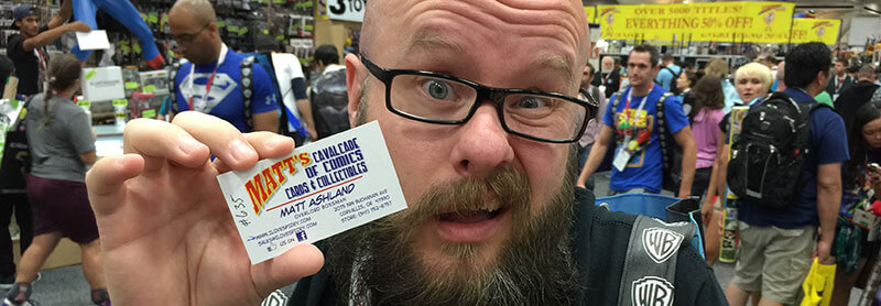 Local SEO lessons from ComicCon - put your social URLs on your business cards