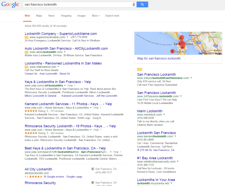 google local services serp before local home services ads