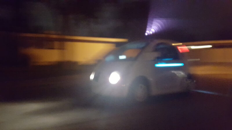 Google Driverless Car At Night