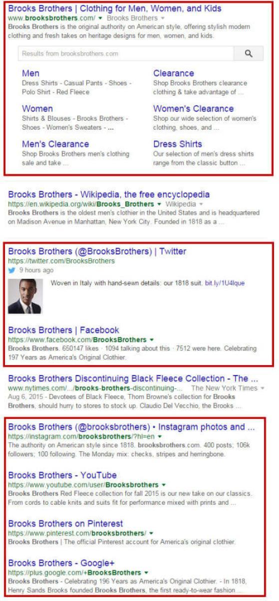 Brooks Brothers Social Profile SEO