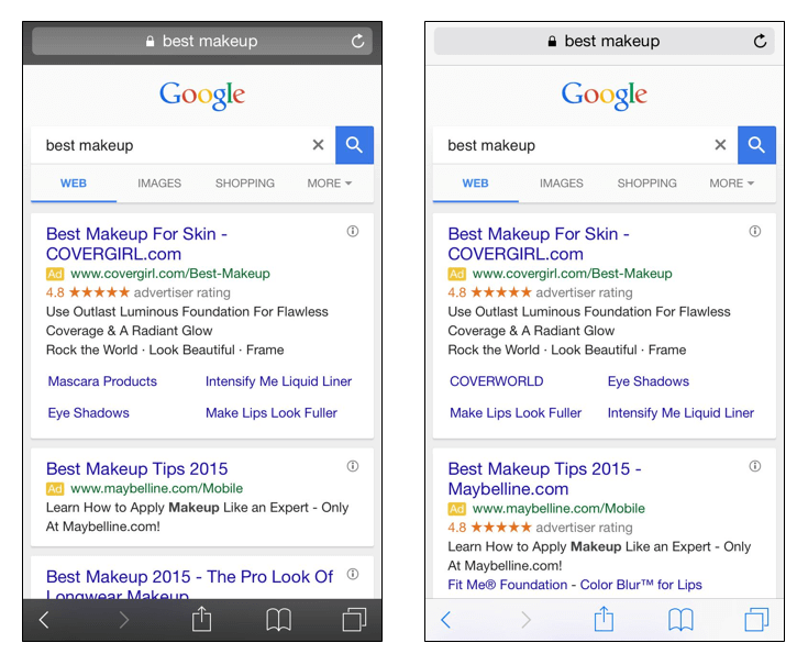 google-mobile-text-ads-two-ads-best-makeup-sidebyside
