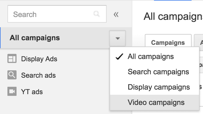 youtube trueview campaigns in adwords