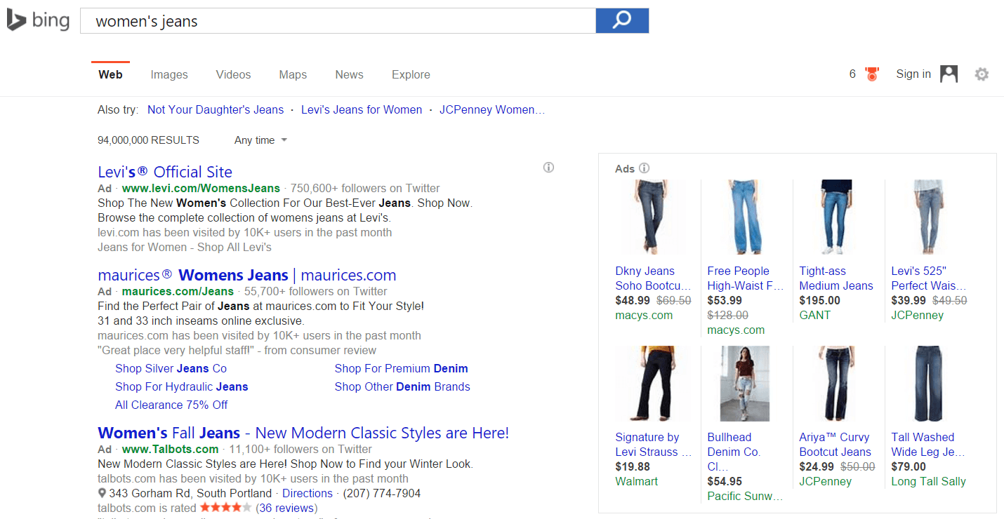 bing ads shopping campaigns