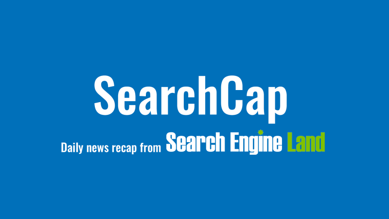 SearchCap: Bing updates copyright removals, Google smart display ads & SEO beginners