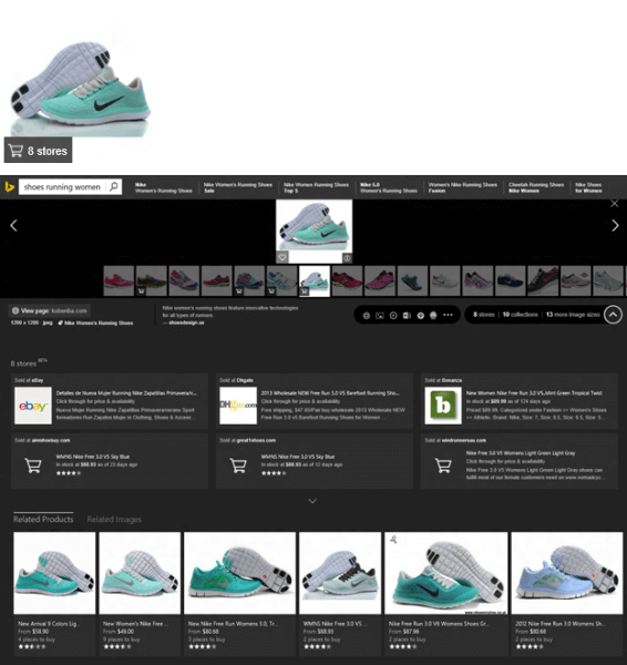 Bing image stream search