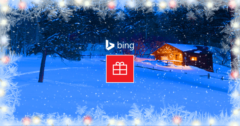 bing Holiday homepage