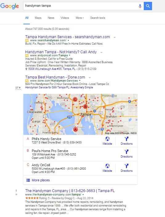 Handyman Tampa - Google