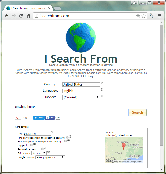 isearchfrom website
