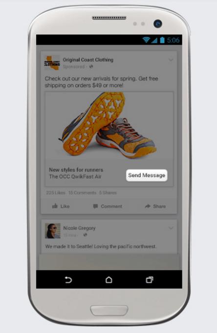 Facebook Messenger Publicidade