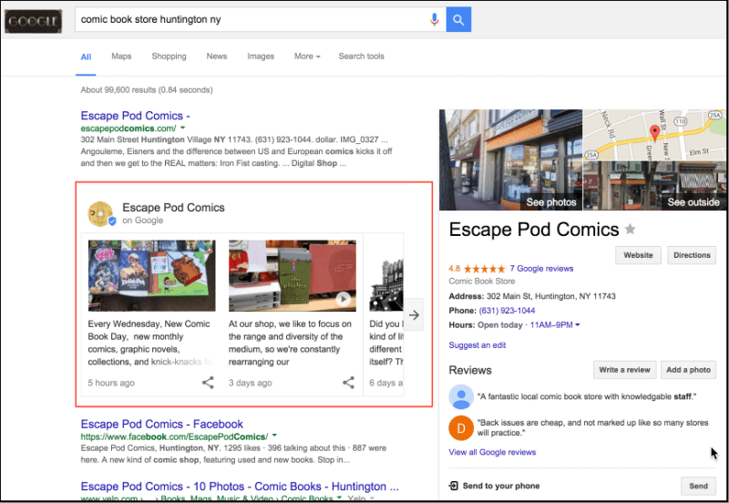 Business Category Query w Google Posts