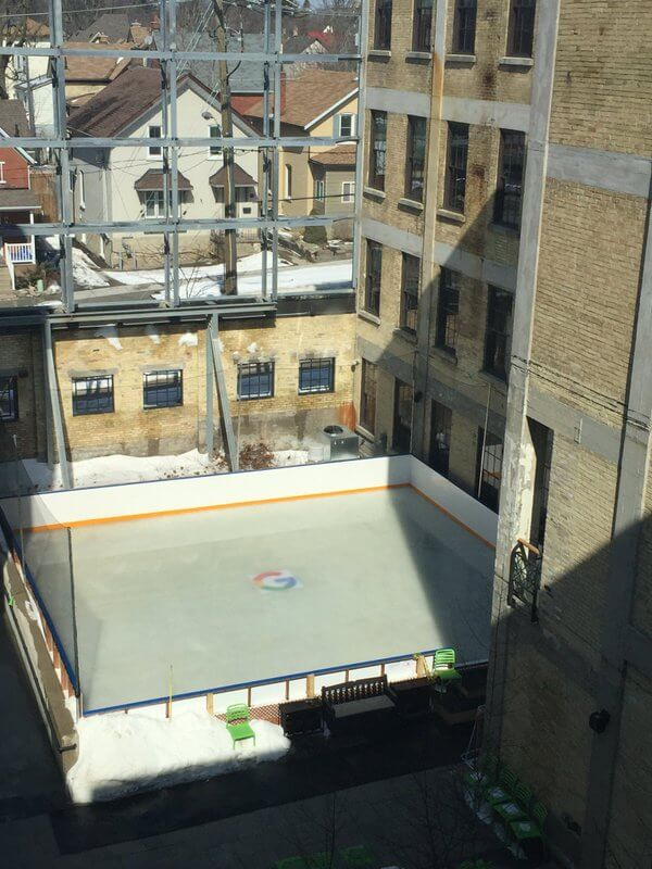 Google Canada ice hockey rink