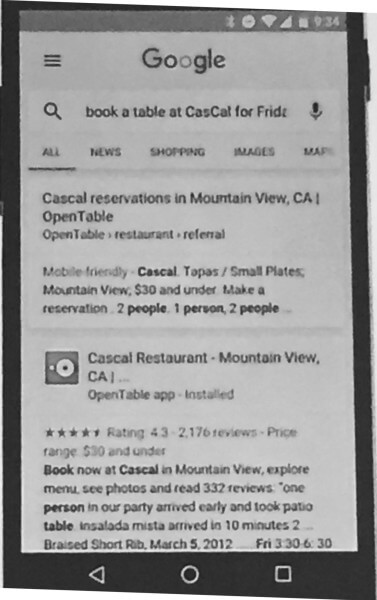 Book a Table at Cascal From Within an App