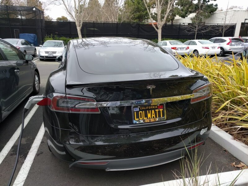 LOLWATT license plate