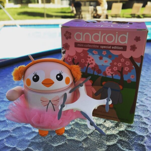 Google pink penguin android figurine
