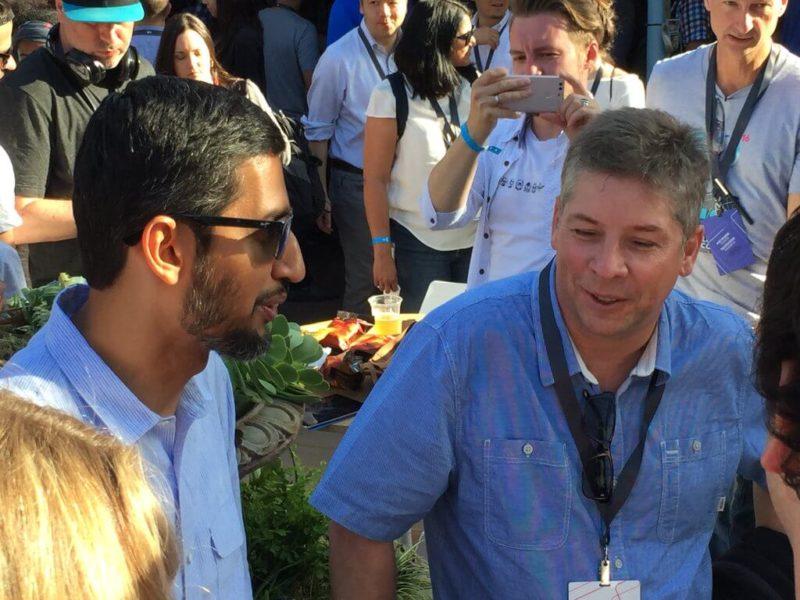 Google's Sundar Pichai with Danny Sullivan