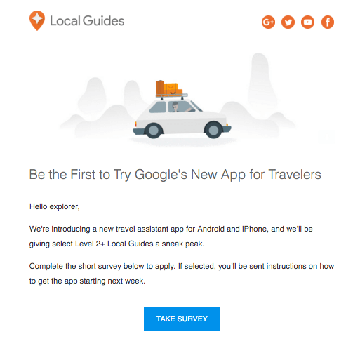 Local guides travel app
