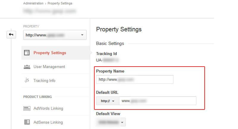 Edit Google Analytics Settings When Changing Domain Names