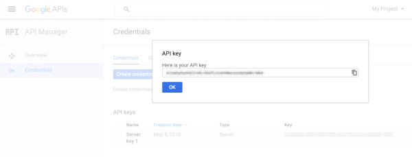 Generating a Google Maps Server Key
