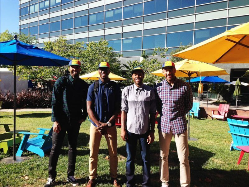 NBA players visit the GooglePlex