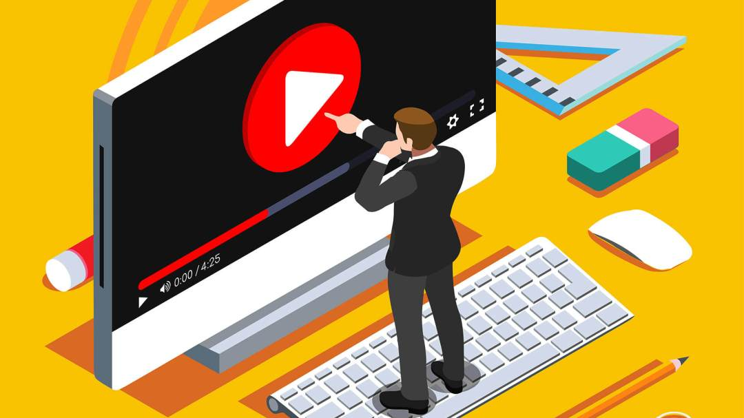 video-viewing-play-button-production-laptop-ss-1920 Report shows YouTube and Google video ranking algorithms differ widely