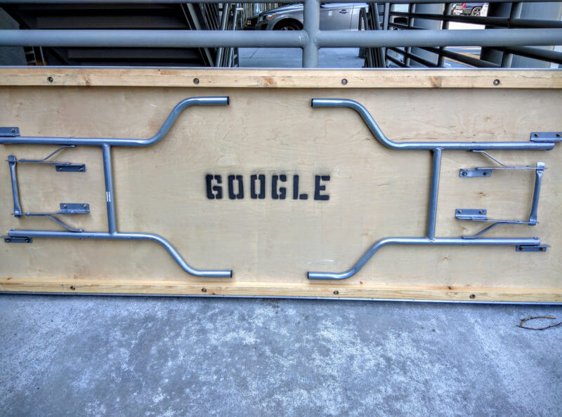 Google folding table