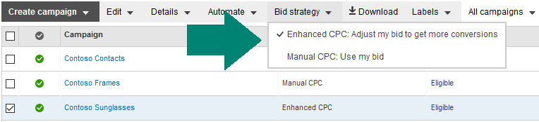 bing ads enhanced cpc bid strategy