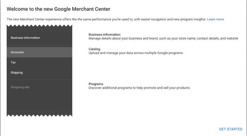 new google merchant center