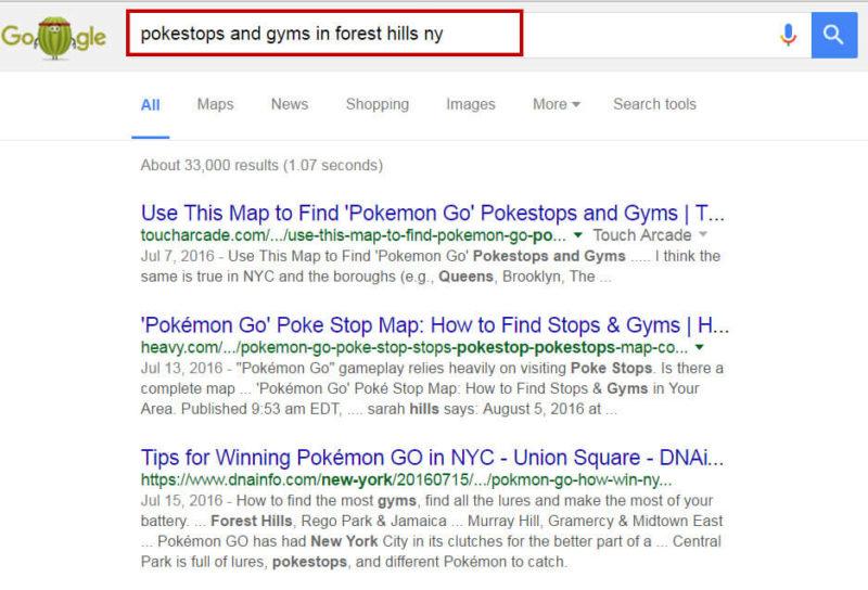 Pokemon Go Local Search Marketing