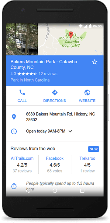 Local reviews Google