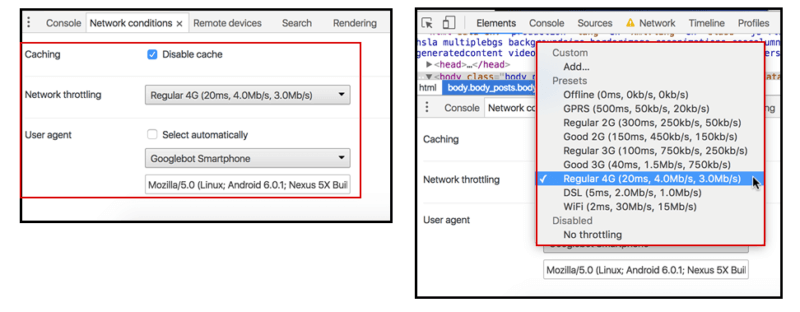 Emulate Network Conditions