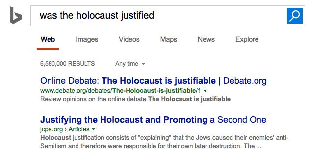 bing holocaust justified