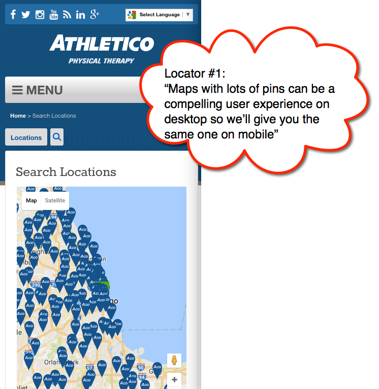 Athletico Locator