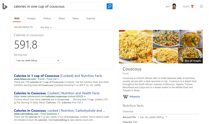 bing-calorie-count-search