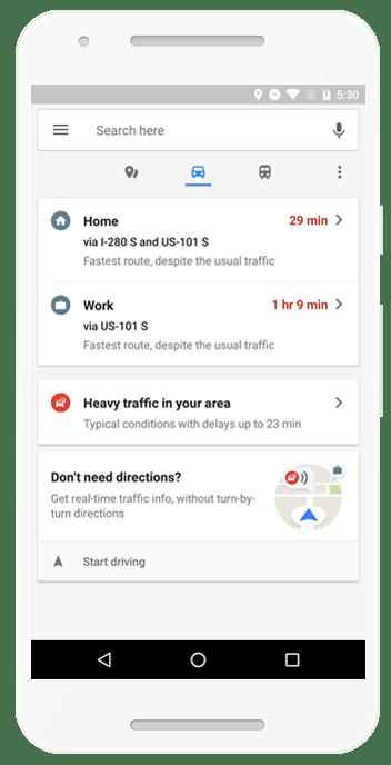 Google maps update traffic